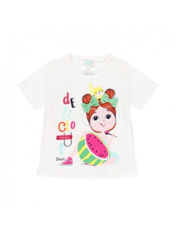 Camiseta malha do bébé