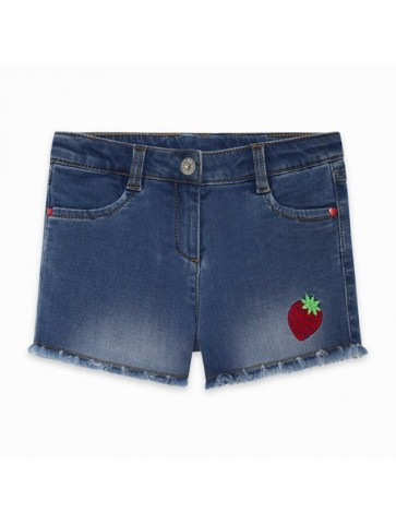 SHORT DENIM STRAWBERRY GIRL...